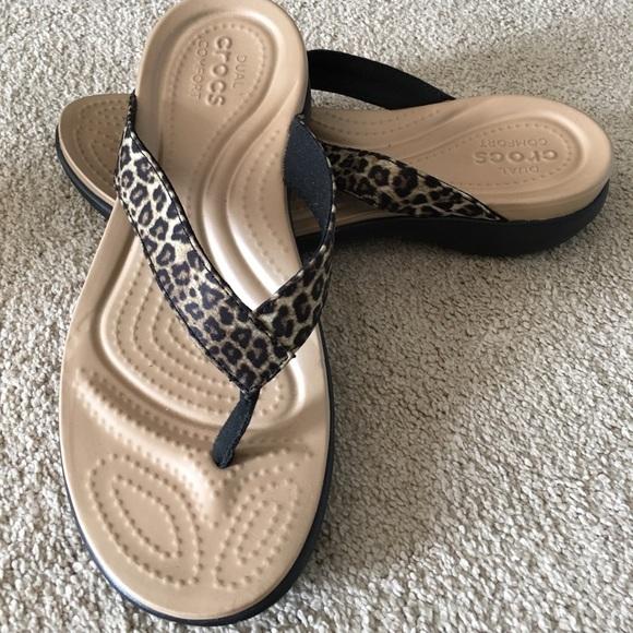 c1f5989b3 CROCS Shoes - Brand New leopard print crocs!